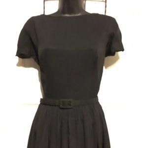 Vintage Dresses - Vintage Black Dress with Full skirt